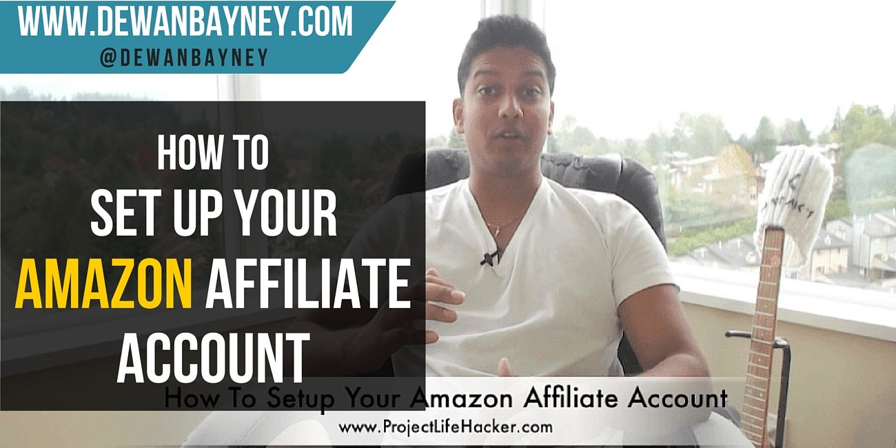 Dewan Bayney - how to set up your affiliate account